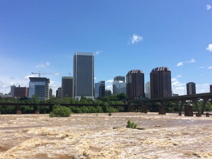 Richmond vu depuis James River
