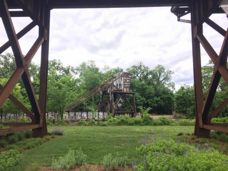 Vestiges d'un pont à bascule