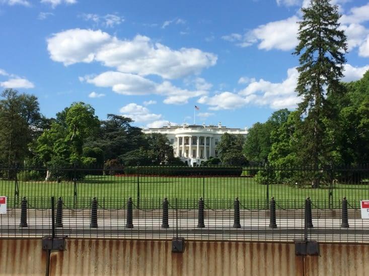 Façade sud de la Maison-Blanche