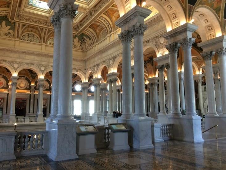 Intérieur de la bibliothèque du Congrès