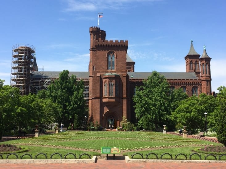 Jardins du bâtiment de la Smithsonian Institution
