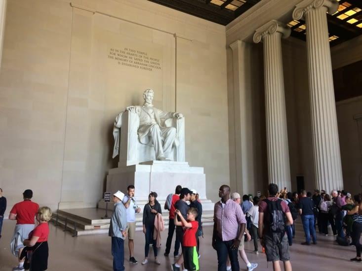 La statue d'Abraham Lincoln