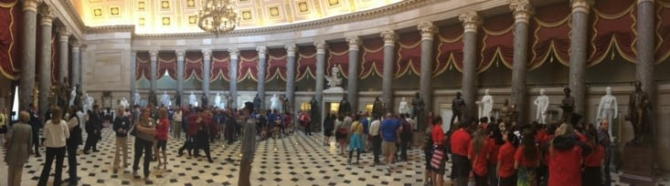 Le National Statuary Hall et ses 35 statues