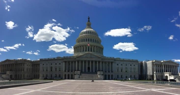Vue panoramique de la façade est du Capitole