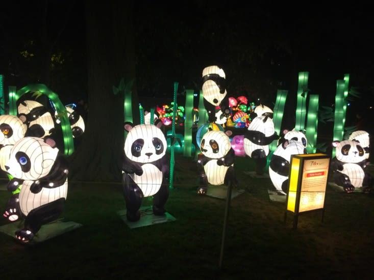 Chinese Lantern Festival dans le parc Franklin