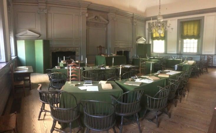 La salle où fut signée la Constitution des États-Unis