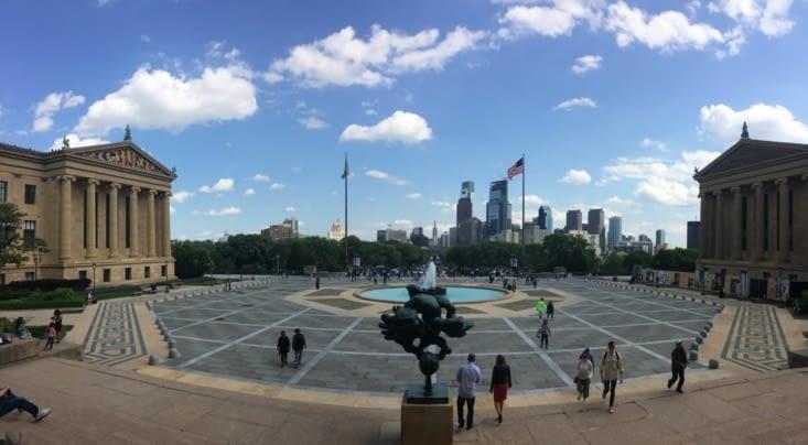 Vue sur Philadelphie depuis le musée des beaux-arts