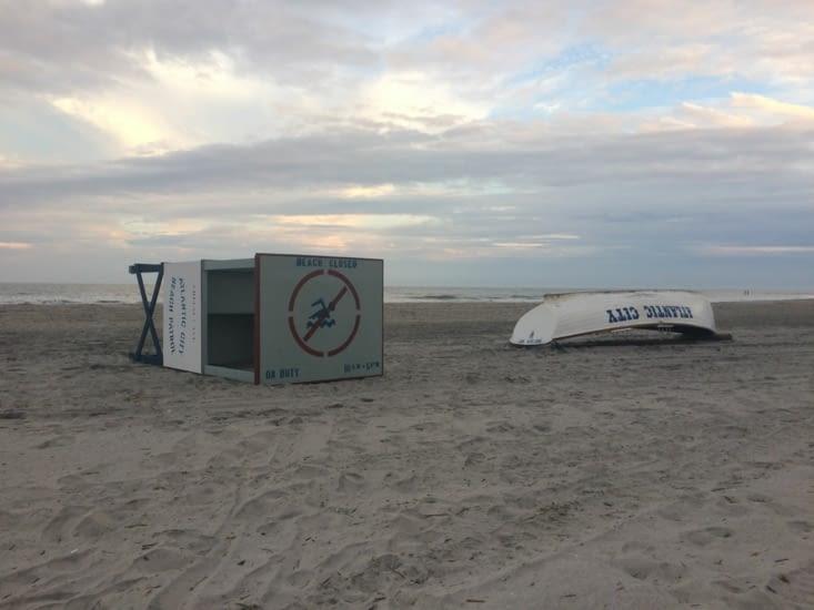 La plage d'Atlantic City