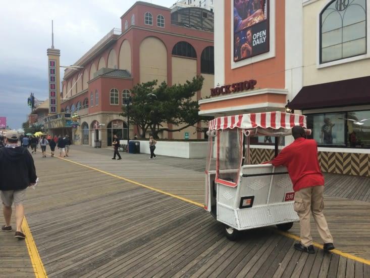 Pousse-pousse sur la promenade d'Atlantic City