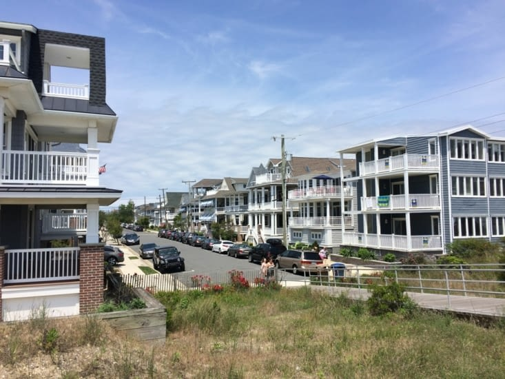 Quartier résidentiel d'Ocean City