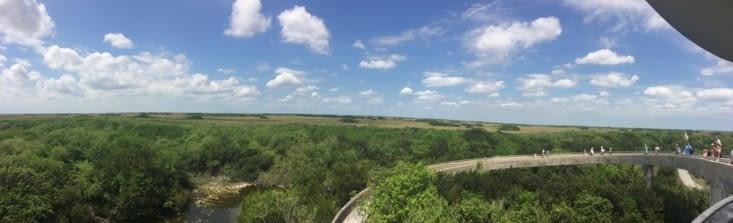 Vue panoramique sur la Shark Valley depuis la tour d'observation