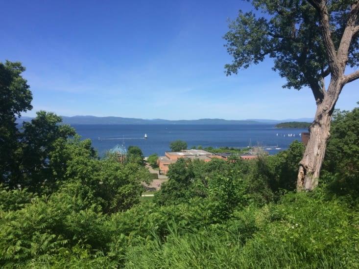 Vue sur le lac Champlain