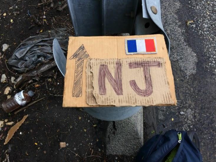 Bricolage de pancarte pour aller dans le New Jersey