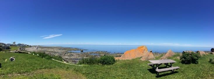 Vue panoramique depuis l'auberge de Sainte-Félicité