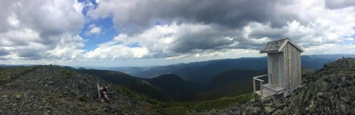 Vue panoramique depuis le sommet du Mont Albert