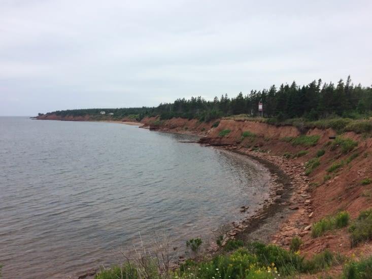La couleur rouge caractéristique du sol de l'Île-du-Prince-Édouard