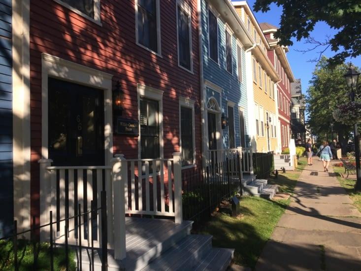 Les maisons colorées de Charlottetown