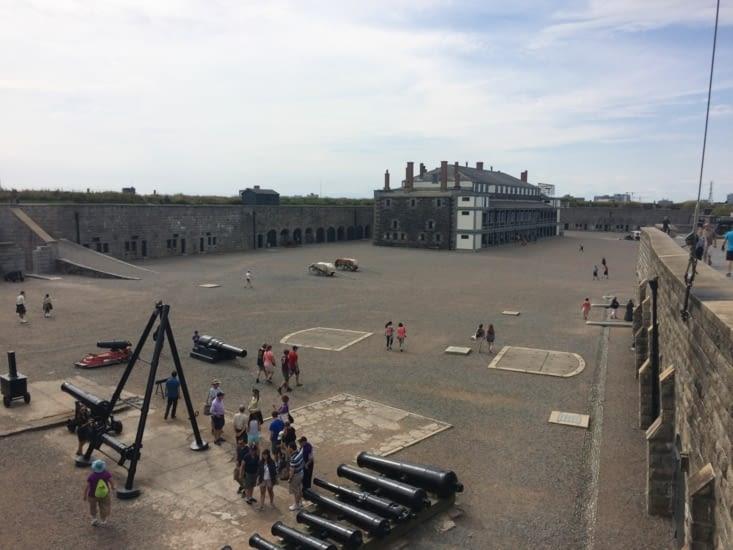 La cour de la citadelle d'Halifax