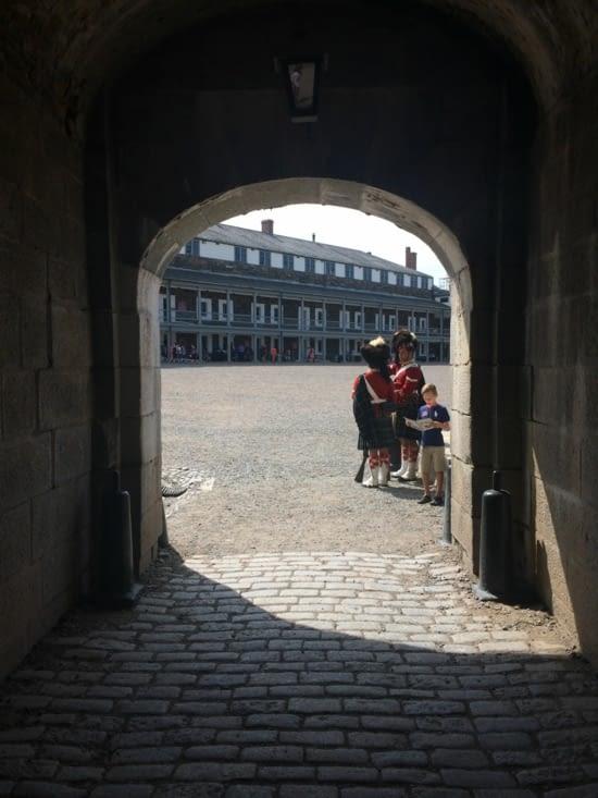L'entrée de la citadelle d'Halifax