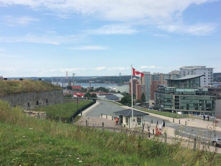 Vue depuis les hauteurs de la citadelle d'Halifax