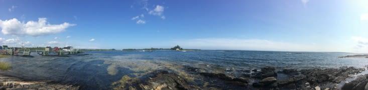 Vue panoramique sur Blue Rocks