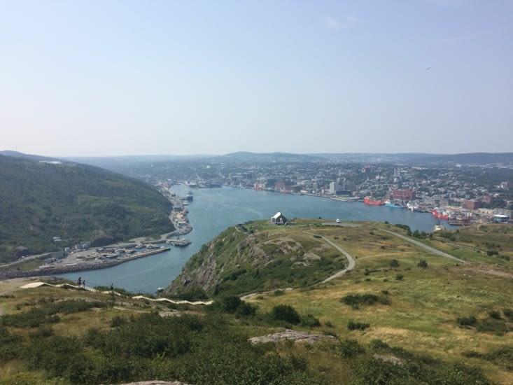 Vue sur St. John's depuis Signal Hill