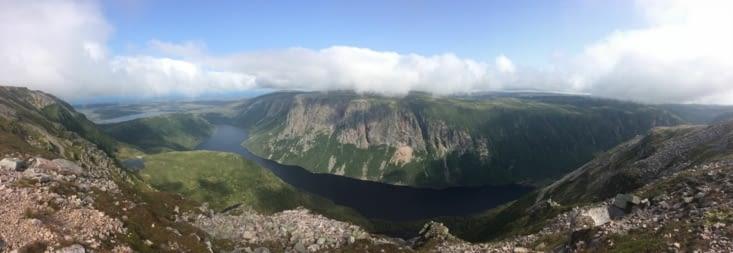 Vue panoramique depuis le mont Gros-Morne