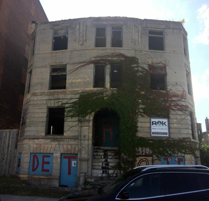 Bâtiment abandonné dans le centre-ville de Détroit