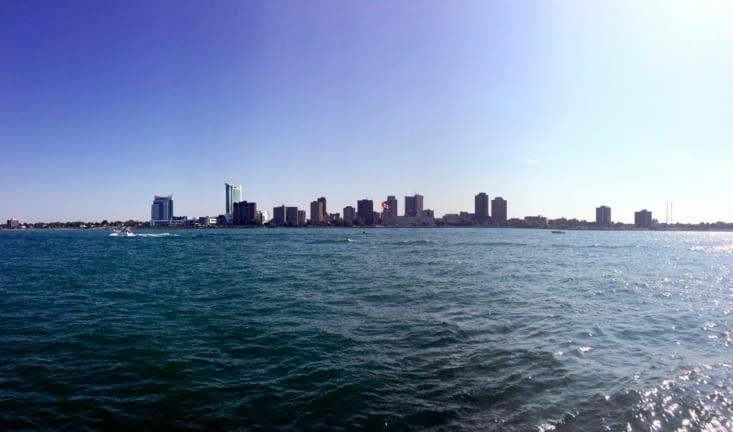 Windsor, vu depuis Detroit