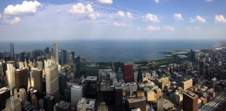 Vue panoramique sur l'est du centre-ville