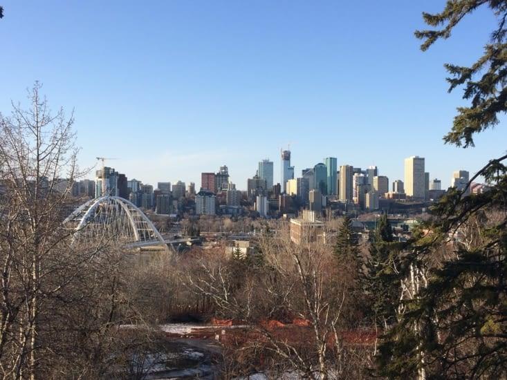 Vue sur le centre-ville d'Edmonton
