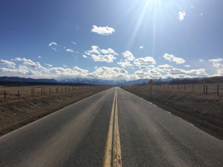 Sur la route de Canmore