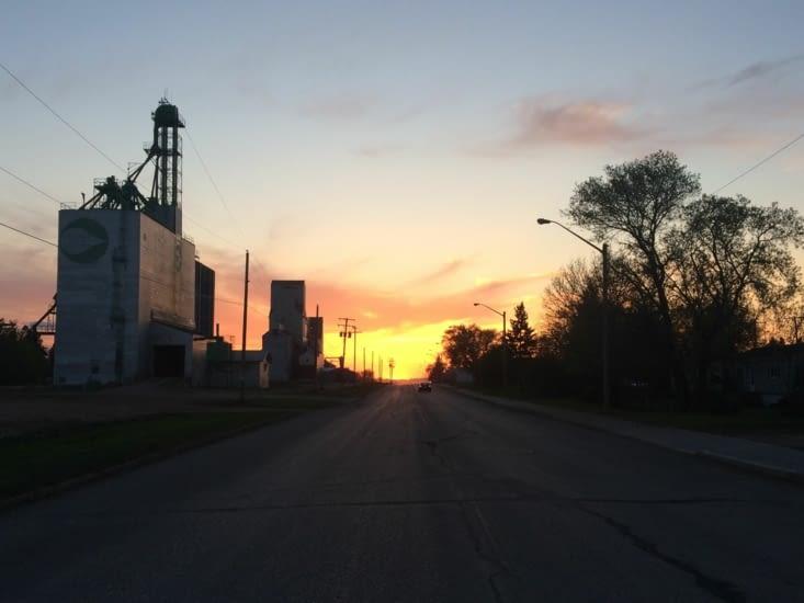 Coucher de soleil sur la Saskatchewan