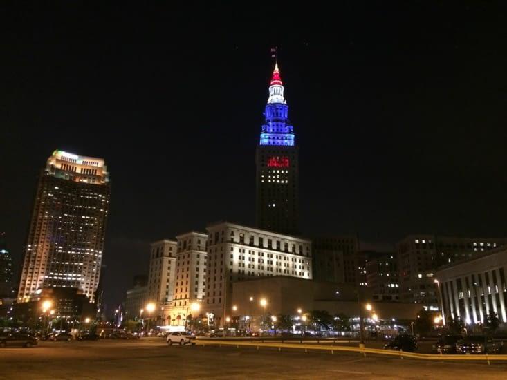 Tower City Center, de nuit