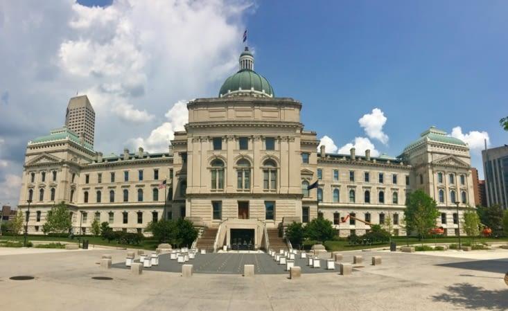 Façade est du Capitole de l'Indiana