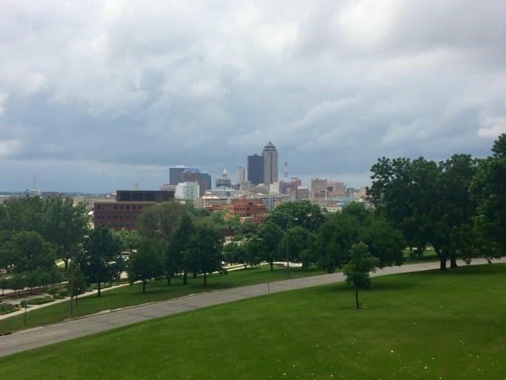Des Moines vu depuis les jardins du Capitole