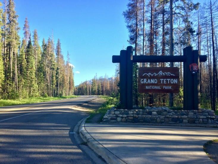 Entrée du parc national de Grand Teton