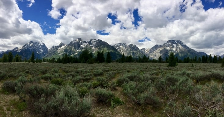 La chaîne de montagnes de Grand Teton