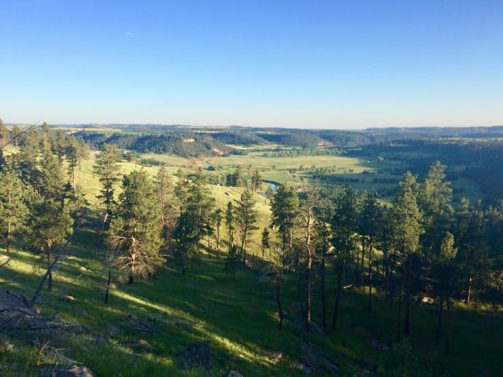 Les plaines du Wyoming, depuis l'un des sentiers