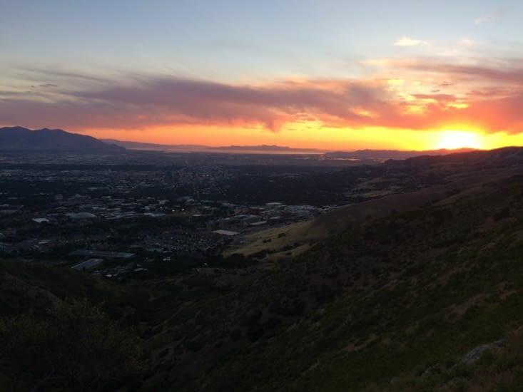 Coucher de soleil sur Salt Lake City