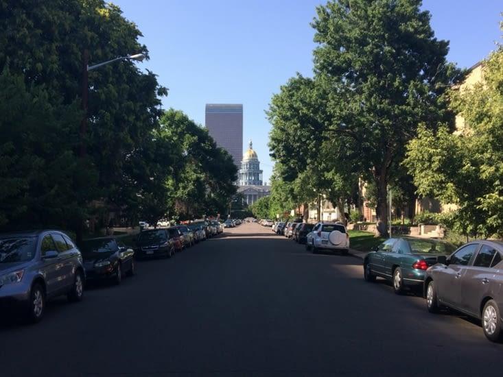 Le Capitole vu depuis le beau quartier de Capitol Hill