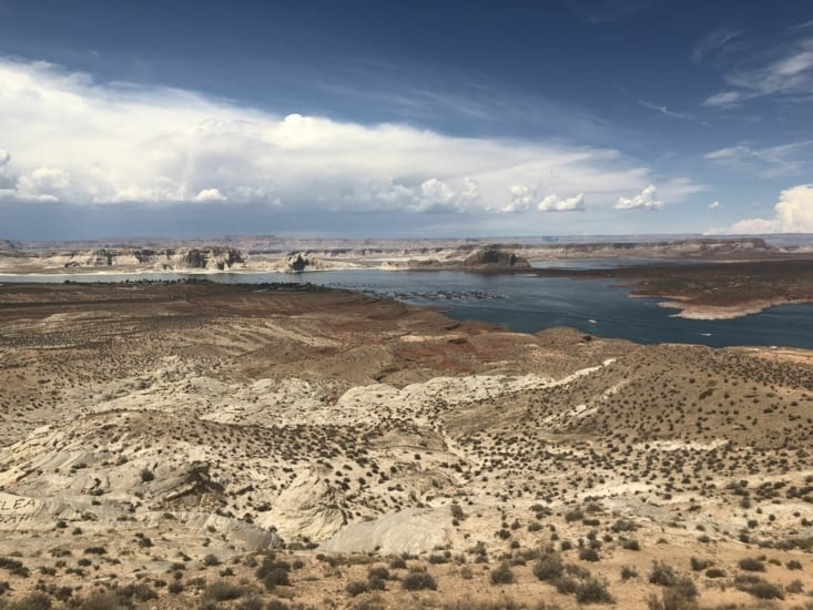 Lac Powell depuis Wahweap Overlook