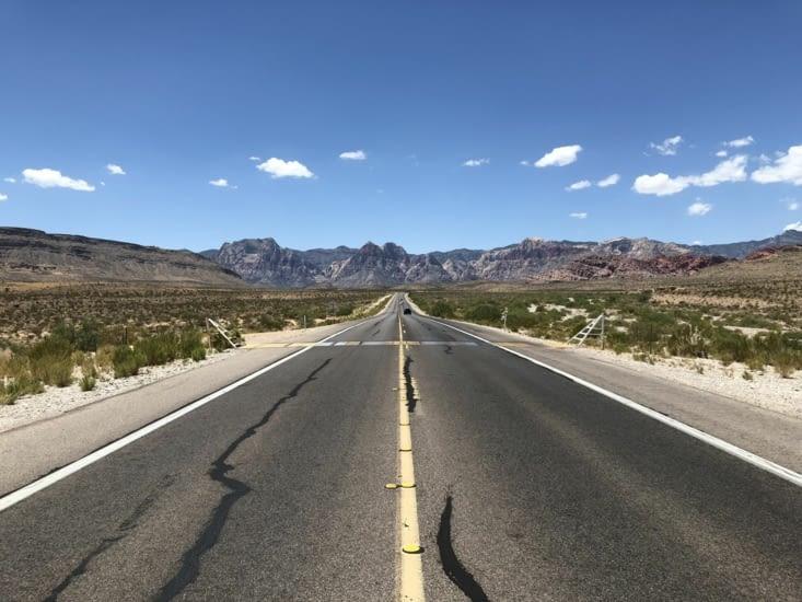 Entrée dans Red Rock Canyon