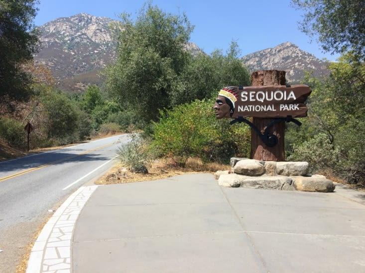 Entrée dans le parc national de Sequoia