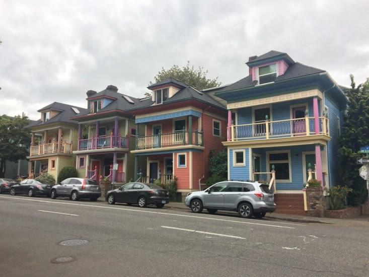 Dans un quartier résidentiel de Portland