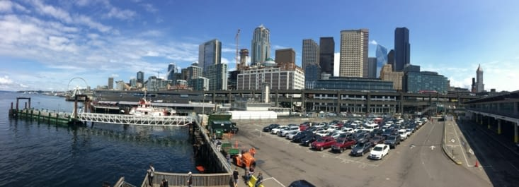 Vue panoramique sur le centre-ville de Seattle
