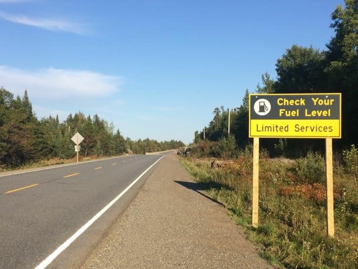 Pas de station-service durant les 150 prochains kilomètres