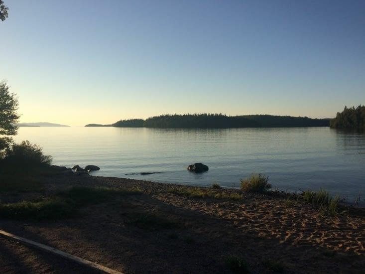 Réveil en bordure de lac Supérieur