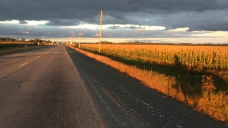 Accompagné par mon ombre sur les derniers kilomètres
