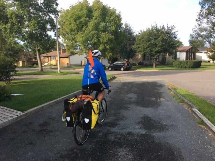 En route pour une nouvelle journée de vélo !